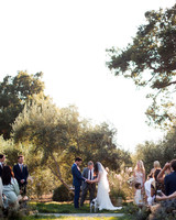 anika max wedding couple outdoor ceremony