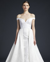 anne barge off the shoulder sweetheart ball gown wedding dress fall 2019