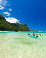 Hanalei Bay in Kauai, Hawaii
