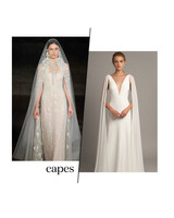 fall 2019 bridal fashion week trends capes