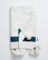 bridal shower gifts white throw
