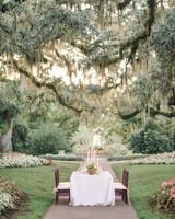 garden table wedding