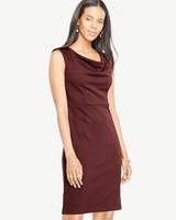 burgundy sleeveless gown