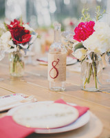 burlap wedding table number