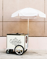 carmela ice cream cart umbrella