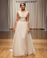 casablanca fall 2018 lace top a-line wedding dress