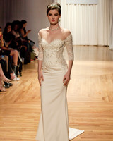 casablanca fall 2018 off-shoulder sweetheart wedding dress