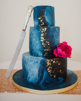 Blue Celestial Wedding Cake