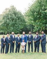 dawn rich wedding groomsmen with trees