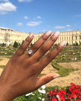 engagement ring selfie garden at versailles