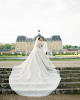 lace wedding dress with long train