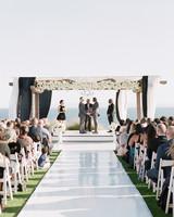 henery michael wedding ceremony couple
