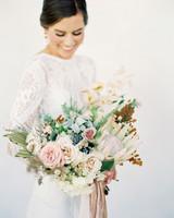 jena donny wedding bride with bouquet