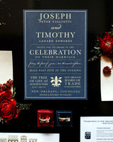 joe tim new orleans wedding invitation