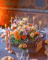 julia mauro wedding floral centerpiece