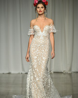 julie vino group fall 2019 sheer trumpet over the shoulder wedding dress