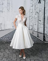 Justin Alexander Tea-Length Dress