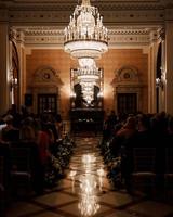 karolina sorab wedding ceremony chandelier