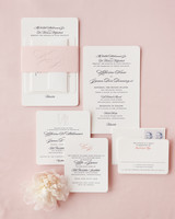 pink and black wedding invitation