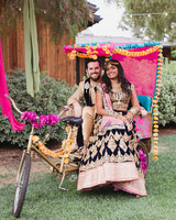 california indian jewish wedding bike cart prop