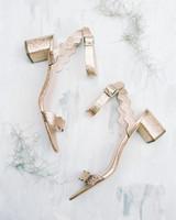 rose gold block heel sandals