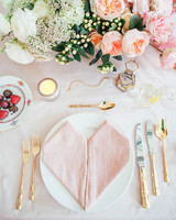 wedding reception napkin folds pink napkin folded into heart shape