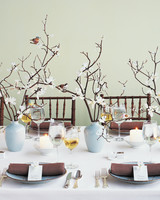 Paper Flower Branches Centerpiece