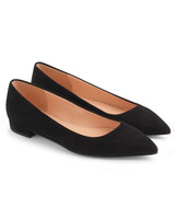 outdoor wedding shoes black pointed toe flats