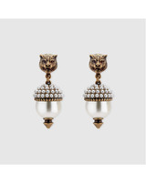 pearl wedding earrings gucci