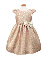 pink patterned flower girl dress bow