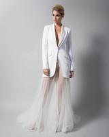 randi rahm tule dress with suit jacket fall 2018