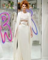 randi rahm fall 2019 high neck lace top sheath dress with cutouts