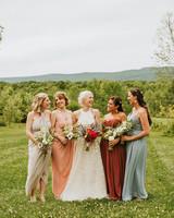 rose chris wedding bridesmaids