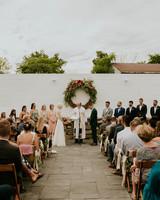 rosie chris wedding ceremony