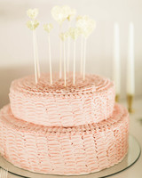 52 small wedding cakes with a big presence martha stewart weddings woven small wedding cake junglespirit Choice Image
