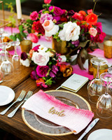 dip dyed napkins centerpiece