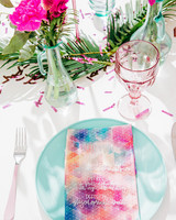 rainbow watercolor napkins