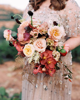 stefanie terrel wedding bouquet flowers
