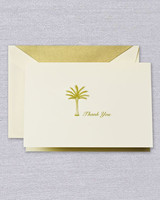 thank you notes crane palm tree