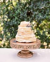 unique wedding cake crepes