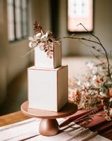unique cake shape rectangle stacked