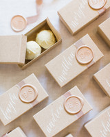 wedding place chocolate box wax stamp