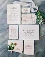 illustrated paris themed vintage invite