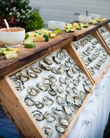 oyster bar wedding food