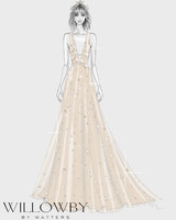 willowby wedding dress sketch