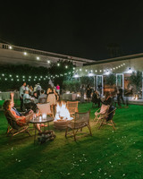 wedding after party lounge around bon fire