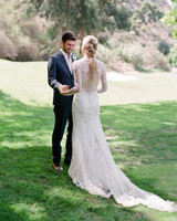 alex drew california wedding couple first look outdoors