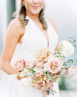 amanda chuck wedding bride holding bouquet