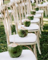 wedding seating with fresh chilled coconut water