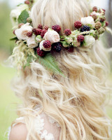 berry wedding ideas sonya khegay blackberry flower crown
